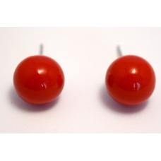 Rode Knop Oorbel