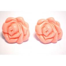 Roze Bloem Oorbel