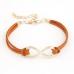 Oranje Bruine 'Oneindige' Armband