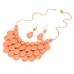 Oranje Ketting & Oorbellen Set