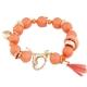 Oranje Kralen Met Gouden Bedeltjes Armband