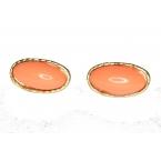 Oranje Ovale Oorbellen