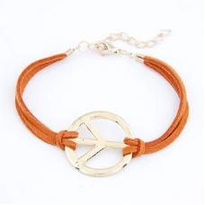 Oranje Peace Teken Armband