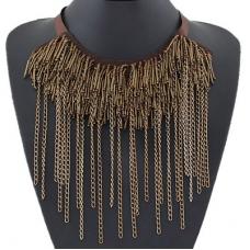 Oud Gouden Metalen Chain Ketting