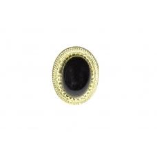 Ovale Zwarte Steen Ring