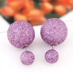 Paarse Glitter Oor Studs