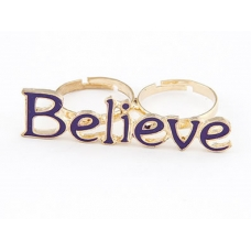 Paarse Believe Ring