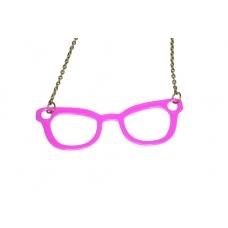 Paarse Brillen Ketting
