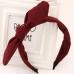 Rode Old School Strik Haarband