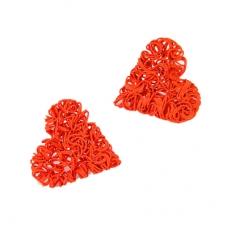 Rode Hartjes Oorbellen