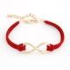 Rode 'Oneindige' Armband