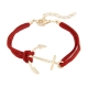 Rood Met Gouden Anker Armband