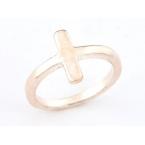 Rose Gouden Kruisje Ring