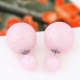 Roze Glitter Oor Studs