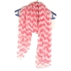 Roze Met Beige Strepen Sjaal
