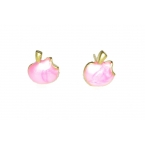 Roze Appel Oorbellen
