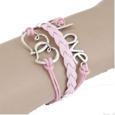 Roze Harten Love Armband