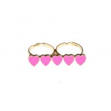 Roze Hartjes Ring