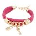 Roze Met Gouden Bedeltjes Armband