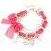 Roze Met Gouden Bedeltjes Armband II