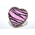 Roze Tijger In Hartvorm Ring