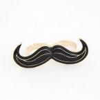 Zwarte Snor Ring Met Print