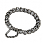 Unieke Donker Grijze Chain Armband
