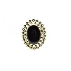 Unieke Zwarte Ovale Steen Ring