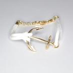 Wit Met Gouden Anker Armband