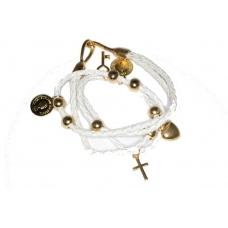 Wit Met Gouden Bedeltjes Armband