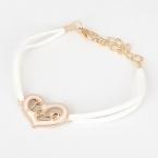 Wit Met Gouden Hartje 'Love' Armband