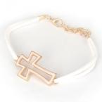 Wit Met Gouden Kruis Armband