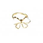 Wit Met Gouden Strik Ring