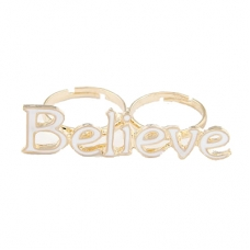 Witte Believe Ring