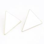 Witte Driehoek Oorbellen