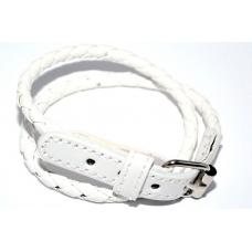 Witte Lederenlook Armband