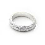 Zilveren Ring Met Spikkels