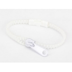 Witte Rits Armband