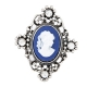 Zilver Met Blauwe Vrouw Ring