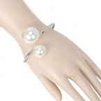 Zilver Met Grote Parels Armband