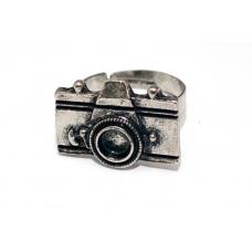 Zilveren Fotocamera Ring