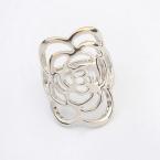 Zilveren Art Bloem Ring
