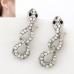 Zilveren Diamanten Slangen Oorbellen
