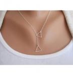 Zilveren Driehoeken Ketting