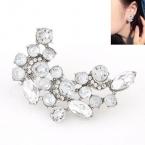 Zilveren Kristallen Steentjes Oorbel
