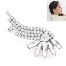Zilveren Kristallen Vleugel Ear Cuff