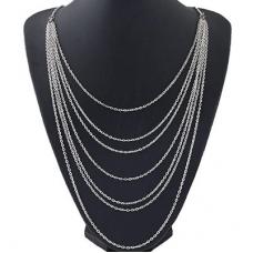 Zilveren Lagen Chains Ketting