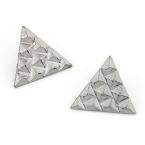 Zilveren Pyramide Stud Oorbellen