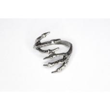 Zilveren Twee Klauwen Ring