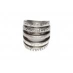 Zilveren Vijf Ringen Ring